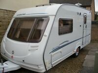 lovely sterling eccles topaz 2 berth caravan 2006 with motor mover