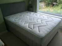 Double bed, with mattress and headboard -barely used!