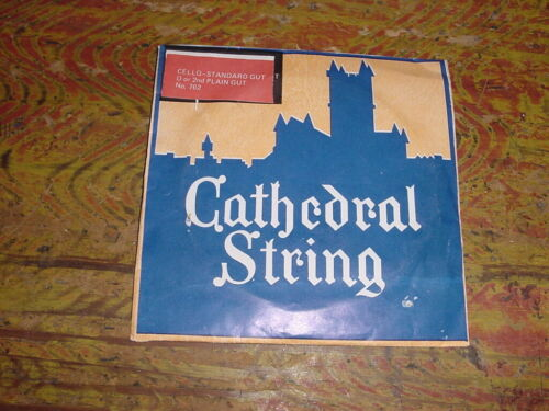 VINTAGE CATHEDRAL CELLO GUT STRING D OR 2ND  NEW OLD STOCK 1950s HARD TO FIND !
