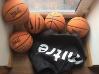5 Basketballs plus their bag