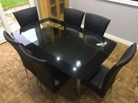 Harvey's Boat Dining Table & 6 Marilyn Chairs