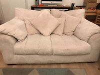 Cream 2 Seat Sofa