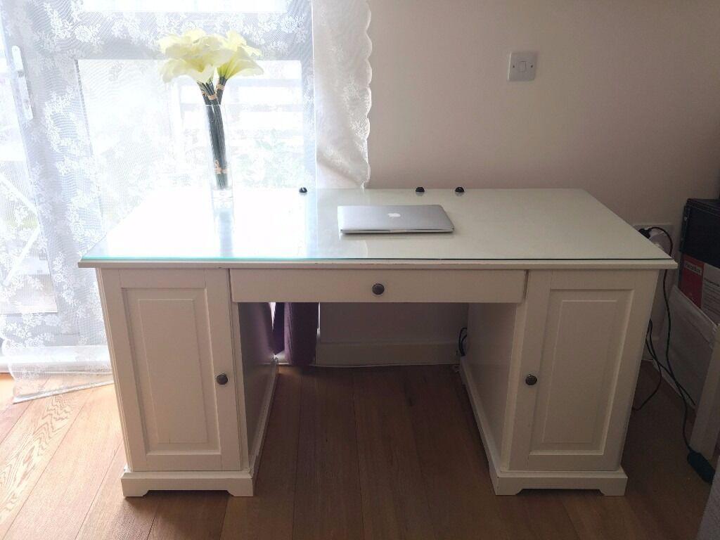 Ikea white writing bureau my micke desk vanity from ikea