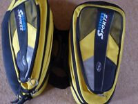 Hump Back Oxford Sports Panniers - yellow and black expandable