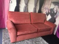 New Furniture Village Park Avenue Large 3 Seater Sofa In Plain Velvet Brick