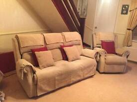 Electric recliner and matching sofa