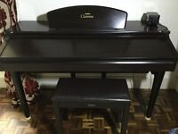 Clavinova CVP 105 electric piano with stool original manual and easyplay music books