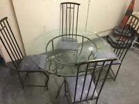 Glass table and chairs heavy duty