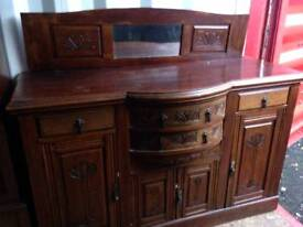 Victorian sideboard with carved decoration