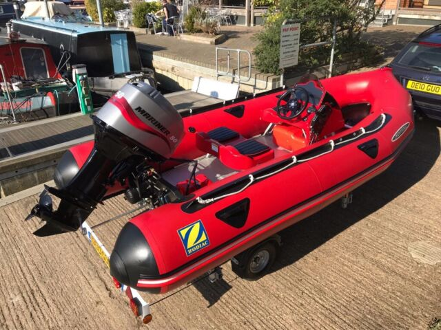 Zodiac Futura MK2 Aluminium floor semi rib inflatable boat 50hp ELPT  Outboard + brand new trailer | in Stratford-upon-Avon, Warwickshire |  Gumtree