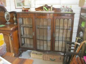 STUNNING ORNATE GLAZED DISPLAY CABINET. IN GOOD ORDER. VIEWING/DELIVERY AVAILABLE