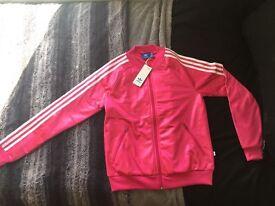 Pink Adidas Track Jacket, never worn, UK size 8