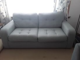 3 seater sofa for sale vgc pale blue