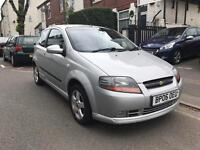 2006 CHEVROLET KALOS 1.4 PETROL. ONLY 44000 GENUINE MILES. LADY OWNER. ALLOY WHEELS. A/C. FIRST CAR