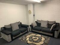 Grey & Black sofas 3&2 delivery 🚚 sofa suite couch furniture