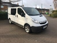 left hand drive vauxhall Vivaro 2.0 dci German import 5 seater crew cab lhd same renault trafic