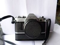 canon ae1 with lenses and auto winder