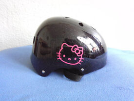 Child's Hello Kitty Helmet - Bike - Skateboard - Roller Skates or Scooter - Keep your lid on