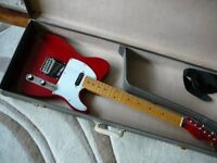 Telecaster electric guitar vintage Hurricane by Morris part relic retro old