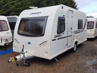 Superb 2011 Bailey Orion 430 4 Berth Fixed Bed Lightweight Caravan, Motor Mover, Solar Panel, Awning