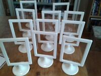 Frames for table numbers/ names white Ikea