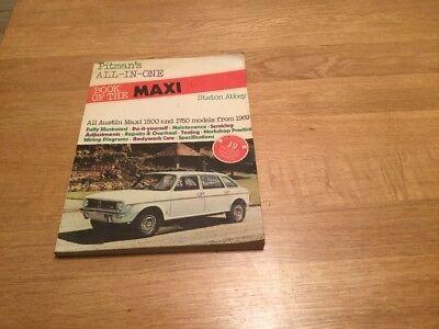 Pitmans Austin Maxi Manual 1500 1750 from 1969 Pitman Book Service Pitman's