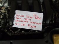 selections of car parts and engines, rover, peugeot renault clio and ford