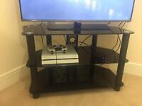 Black glass tv stand - CHEAP - good condition