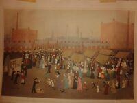 Hollinwood market Print by hellen bradley