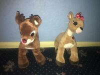 Build a bear Rudolph and Clarice teddies