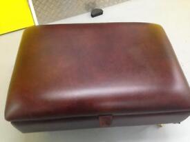 Laura Ashley leather footstool with storage compartment / chest - John Lewis habitat loaf oka Lombok