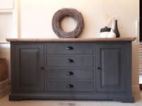 Solid wood sideboard painted in Rustoleum Furniture Paint Graphite