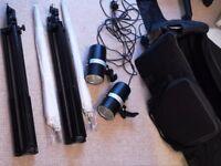 Studio Flash Kit - 2 x FAN 160b strobes, 2 x stands, 2 x umbrellas and carry bag £120.00 ono