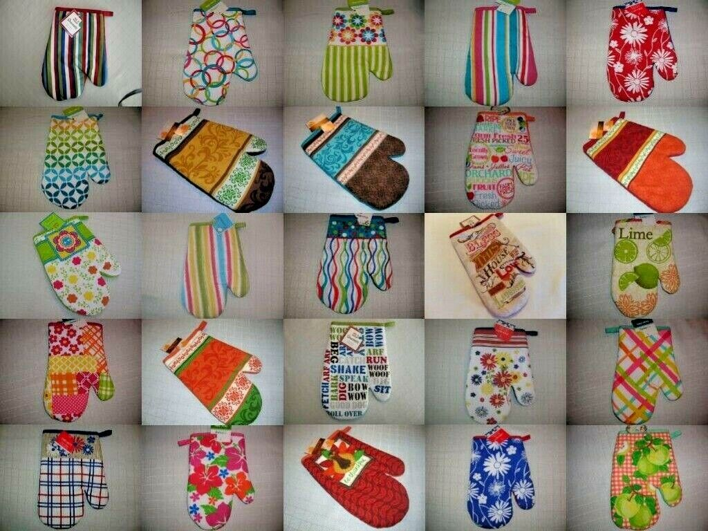 """Oven Mitt New 7"""" x 10""""  Quilted 100% Cotton CHOICE solid col"""