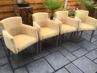 Four 'Champagne' Quality Dining Chairs, Brand New.