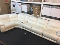 New / Ex Display LazyBoy Recliner Corner Sofa + Media Try Cream/White (left or right side Corner)