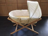 Baby start Bear and Friends Moses basket with Mamas and Papas stand