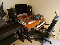 Music workstation desk - 2 tier