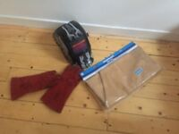 MIG Welder with gloves and NEW! Apron and Welding Mask