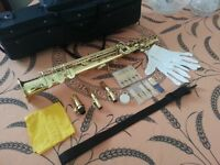 HERTZ Bb Super Sax 200 Soprano Saxophone, nearly new with original bag & full kit