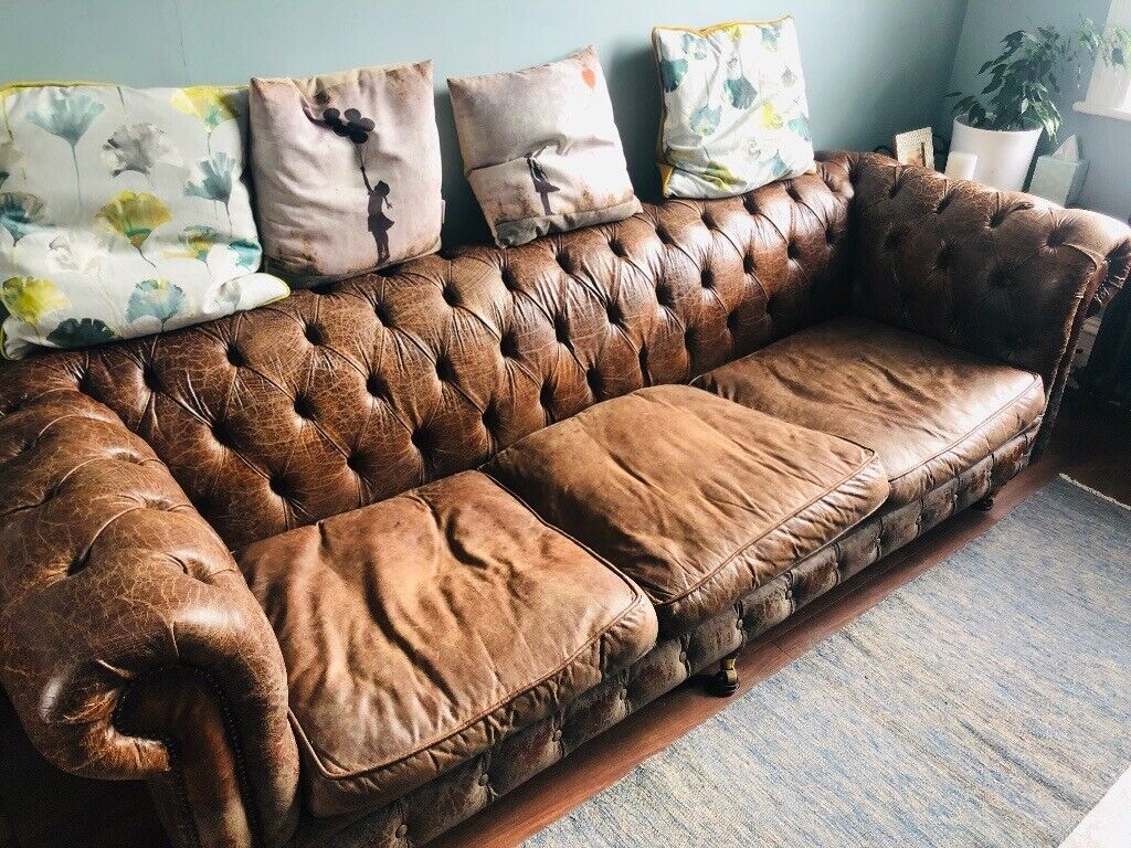 SOLD 5 year old chesterfield 4-seater sofa, priced to sell quickly | in  Bethnal Green, London | Gumtree