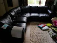 Chocolate leather couch