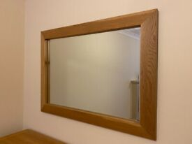Large Oak Mirror Lonsdale Oak Bevelled Edge from Gallery Direct - Open to an offer