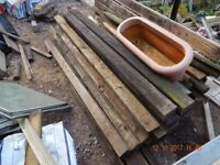 Used fence posts