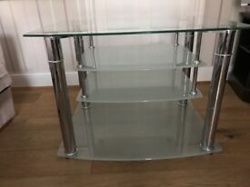 Glass Glass hifi / TV unit