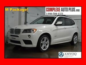 2014 BMW X3 xDrive28i M Sport Package! *Cuir brun,Toit pano.