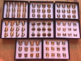 Brand New - Bulk / Wholesale / Job Lot - 96 x Costume Jewellery Rings - Not Gold Or Silver