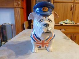manor collectables staffordshire british bulldog winston churchill rn
