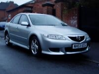 2003 Mazda 6 1.8Ts. Mot August. Service History. 80000 Miles Only. Sports Body Kit. Bargain £799.