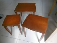 OCCASIONAL / COFFEE TABLES, NEST OF 3, EXCELLENT CONDITION, INTERLOCKING